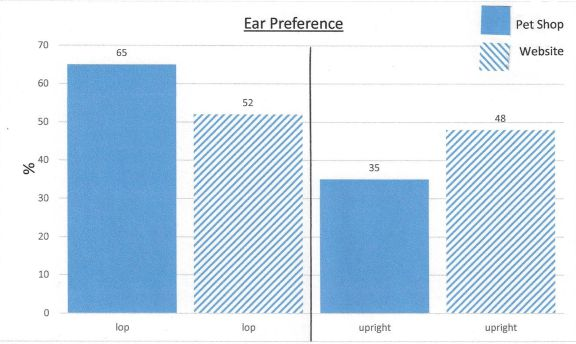 pet shop comparison ear preference
